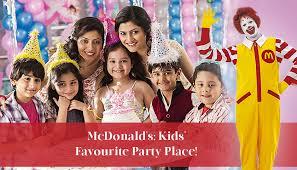 mcdonalds is kids favourite birthday