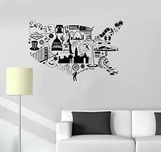 Vinyl Decal Usa Map United States Symbol Room Decor Wall Stickers Ig3341 Ebay