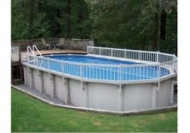Aboveground Swimming Pool Resin Safety Fence Base Kit A 8 Sections Color White For Sale Online Ebay