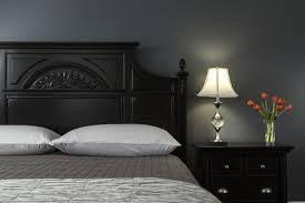 dark colored bedroom walls