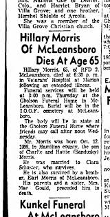 Hillary Morris obit. (brother of Mrs. Mae Gould). 1964 - Newspapers.com