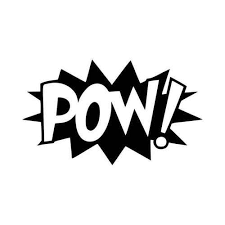 Pow Comic Book Exclamation Vinyl Decal Sticker
