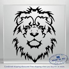 Lion Head Decal Funny Jdm Auto Car Bumper Window Vinyl Decal Sticker Truck 3m Ebay