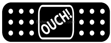 Band Aid Ouch Sticker Funny Stickers Elkhorn Graphics Llc