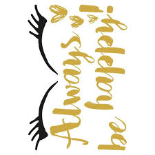 Brewster Metallic Happy Wall Quote Decal Cr 62311 The Home Depot