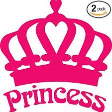 Amazon Com Angdest Princess Crown Pink Set Of 2 Premium Waterproof Vinyl Decal Stickers For Laptop Phone Accessory Helmet Car Window Bumper Mug Tuber Cup Door Wall Decoration Automotive