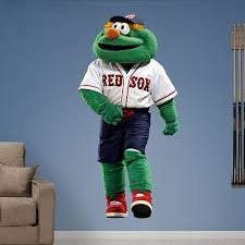 Boston Red Sox Mascot Wally The Green Monster Real Big Fathead Wall Graphic Boston Red Sox Wall Decal Sports D Sport Bedroom Red Sox Baseball Wall Decal