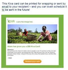 give the gift of kiva