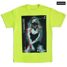 reason clothing print t shirt m l xl