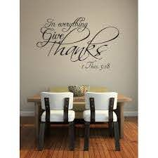 In Everything Give Thanks Vinyl Wall Decal Quotes Home Sticker Decor Walmart Com Walmart Com