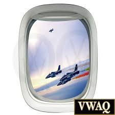 Airplane Decal 3d Window Decal Aerial View Planes Colored Etsy