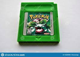 Pokemon Leaf Green GameBoy Cartridge Game Editorial Photography ...