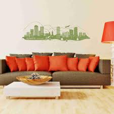 Denver City Skyline Wall Decal Style And Apply