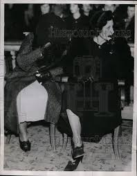 1936 Press Photo Ida Stone and Ollie Farra at the court in Fresno Cali |  Historic Images