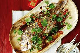 Whole snapper with garlic and ginger