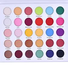 30 colors matte eye shadow palette
