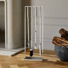 modern fireplace accessories cb2