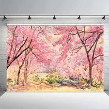 الفينيل التصوير خلفيات الربيع موضوع اليد تعادل النفط اللوحة الوردي