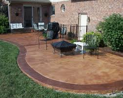 outdoor stained concrete staining