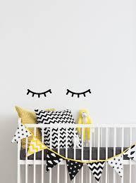 Eyelash Decor Sleepy Eyes Wall Decal Closed Eyes Decals Sleeping Eyes Wall Art Girl Nursery Decor Ideas Above Crib Crib Decals 075 Baby Room Decor Kids Wall Decals Nursery Decor Girl