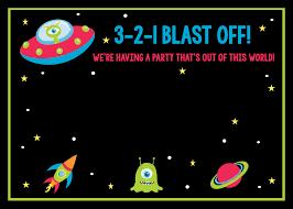 Space Birthday Party Invitations Party Pack Invitaciones De