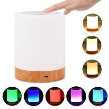 Night Light Touch Sensor Lamp Bedside Table Lamp For Kids Bedroom Rechargeable Dimmable Warm White Light Rgb Color Changing Walmart Com Walmart Com