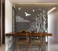 Love Forest Wall Sticker For Dining Room Tree Branch Wall Decal Winter Tree Wall Decals Large Wood Tree B Wall Decor Quotes Dining Room Walls Dining Room Decal