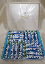 personalised luxury bounty chocolate