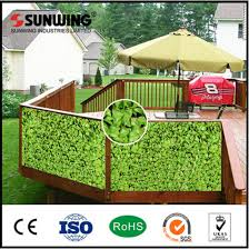 China Sunwing Cheap Plastic Privacy Fence Panels For Sale China Fence Artificial Plant
