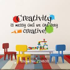 Playroom Wall Decal Creativity Is Messy And We Are Very Creative With Paint Splats Nursery Decor Masterpieces Playroom Decor Wall Decals Messi Wall Decaldecorative Wall Decal Aliexpress