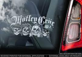 Motley Crue Car Window Sticker Heavy Metal Band Rock Pop Decal Sign V01 Ebay