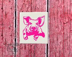 Pig Decal Pig Car Decal Pig Tumbler Decal Potbelly Pig Decal Pig Lover Decal Pigmom Decal Vinyl Decals Patterned Vinyl Monogram Decal