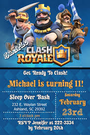 Clash Royale Birthday Invitations Digital Download Get These