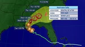 Sally Strengthens Into Category 2 Hurricane