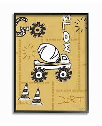 Stupell Industries The Kids Room By Stupell Go Slow Yellow Cement Truck Construction Zone Framed Texturized Art 16 L X 20 H Reviews All Wall Decor Home Decor Macy S