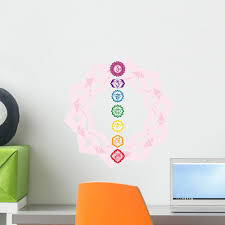 Chakra Mandala Wall Decal Wallmonkeys Com