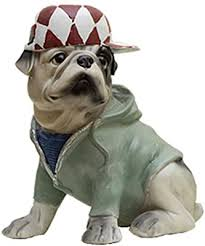 Amazon Com Figurine Desk Statue Animal Statues Animal Decor Figurine For Kids Room Animal Figurine Cute Bulldog Dog Home Soft Decoration Figurines Color Green Size 19 51421 5cm Home Kitchen