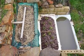 home made 3 bathtub greywater system