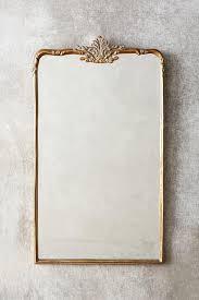 madeleine rectangular antique brass mirror