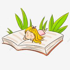 Vẽ Tay đọc Sách Hoạt Hình Cô Bé, Vẽ Tay, Phim Hoạt Hình, Đọc Sách ...