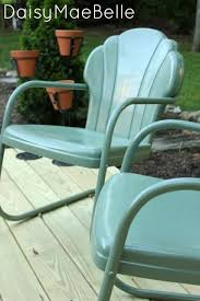 how to paint metal chairs painted