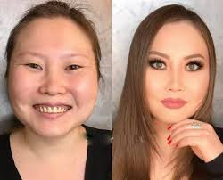 makeup before after transformation
