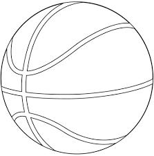 Kolorowanka Piłka do koszykówki | Kolorowanki dla dzieci do druku