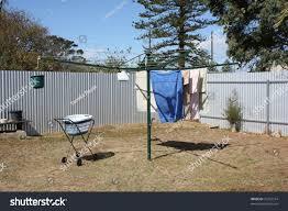 Washing Line Backyard Stock Photo Edit Now 27723514