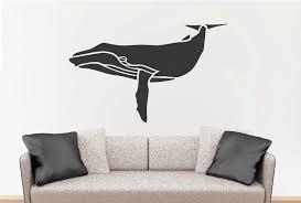 Whale Removable Wall Sticker Nursery Marine Theme Vinyl Decal Ozdeco T S Polonaiz
