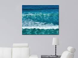 ocean wave wall decor blue ocean wall