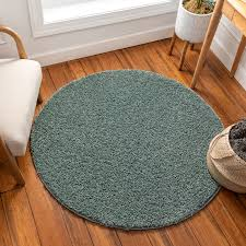 Solid Retro Modern Light Blue Shag Area Rug Plain Plush Easy Care Thick Soft Plush Living Room Kids Bedroom Walmart Com Walmart Com