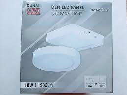 ĐÈN LED ỐP TRẦN VUÔNG NỔI 18W DUHAL SÁNG TRẮNG SDGB518