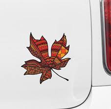 The Decal Store Com By Yadda Yadda Design Co Clr Car Patterned Leaf Vinyl Car Decal C Yydc 4 25 W X 4 5 H Vari