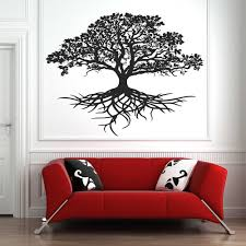 Tree Of Life Wall Sticker Decal Tribal Circle Of Life Roots Branches Birds Wall Decals Living Room Yoga Studio Decor Mural D724 Wall Stickers Aliexpress